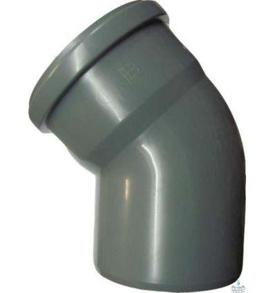Колено канализационное ПП 110/45°