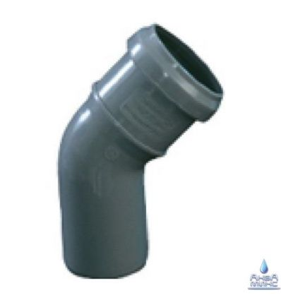 Колено канализационное ПП 40/45°