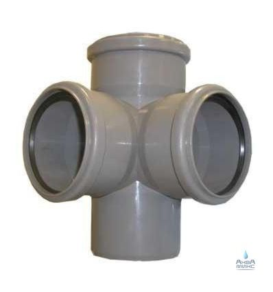 Крестовина канализационная ПП 110/110/110/90° L/P